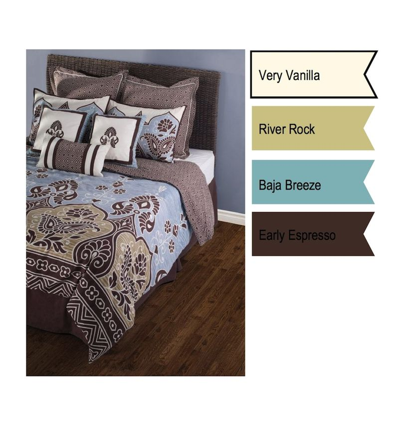 River Rock bedding swatch