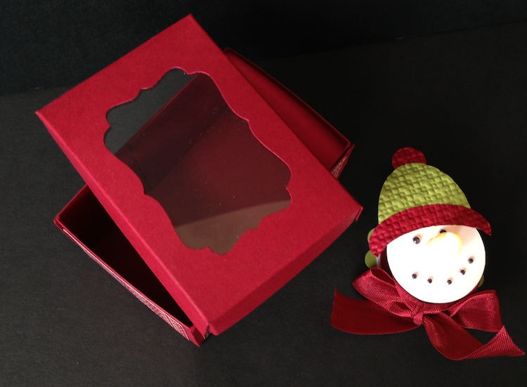 Snowman Tealight box set