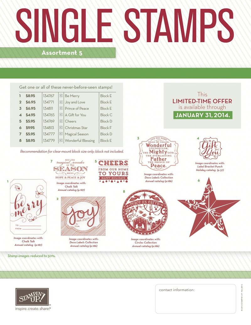 Christmas Single Stamps flyer