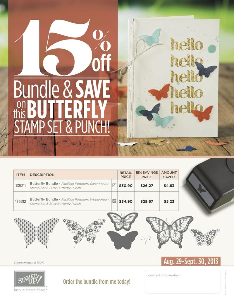 September 2013 Butterfly Bundle flyer