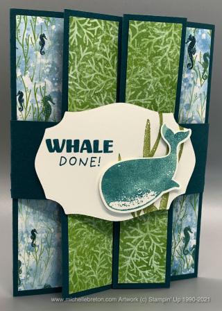Whale of a Time Fun Fold