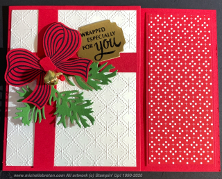 Bow Gift Card Holder Front 1111
