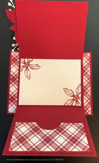Poinsettia Petals Gift Card Inside
