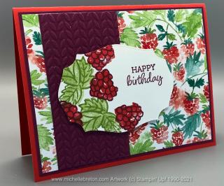 Berry Blessings Birthday Card MTM